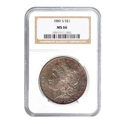 1880-S $1 Morgan Silver Dollar - NGC MS65