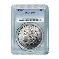 1880-S $1 Morgan Silver Dollar - PCGS MS67