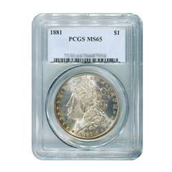 1881 $1 Morgan Silver Dollar PCGS MS65