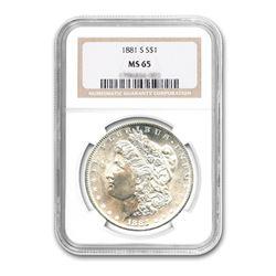 1881-S $1 Morgan Silver Dollar NGC MS65