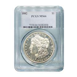 1882 $1 Morgan Silver Dollar PCGS MS66