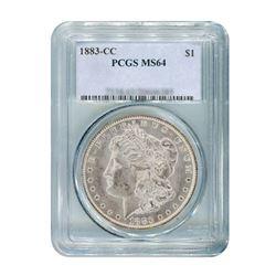 1883-CC $1 Morgan Silver Dollar PCGS MS64