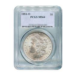 1884-O $1 Morgan Silver Dollar - PCGS MS64