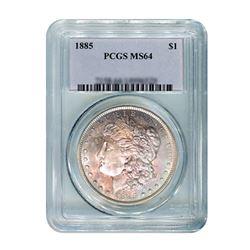 1885 $1 Morgan Silver Dollar PCGS MS64