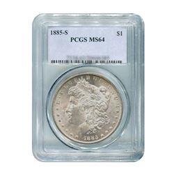 1885-S $1 Morgan Silver Dollar PCGS MS64