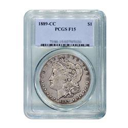 1889-CC $1 Morgan Silver Dollar PCGS F15