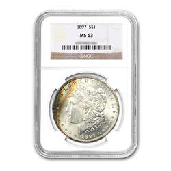 1897 $1 Morgan Silver Dollar NGC MS63