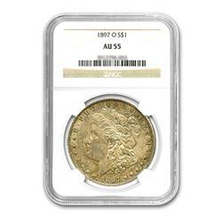1897-O $1 Morgan Silver Dollar NGC AU55