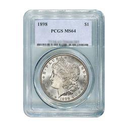 1898 $1 Morgan Silver Dollar PCGS MS66