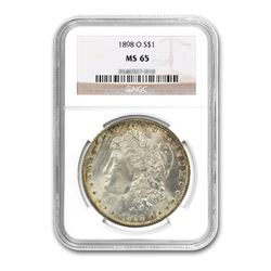 1898-O $1 Morgan Silver Dollar NGC MS65