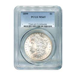 1899 $1 Morgan Silver Dollar PCGS MS65