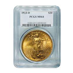 1923-D $20 Saint Gaudens PCGS MS64