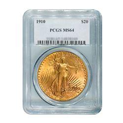 1910 $20 Saint Gaudens PCGS MS64