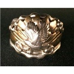 Mens Eagle Sterling Ring