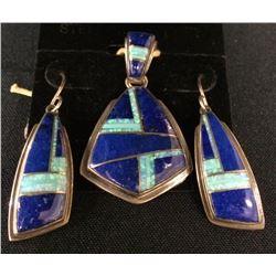Lapis and Opal Set by Julius Burbank (Navajo)