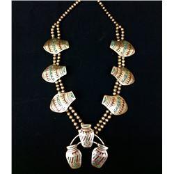 Vintage Unique Squash Blossom Necklace