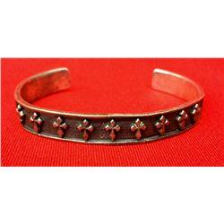 Vintage Sterling Cuff Bracelts - Crosses