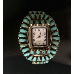 Vintage Cluster Watch Cuff by Lura Moses Begay (Navajo)