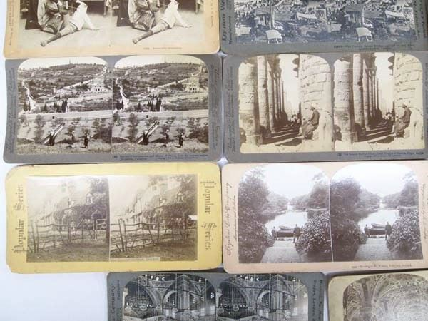 Collection of 14 Antique Stereoscope Cards
