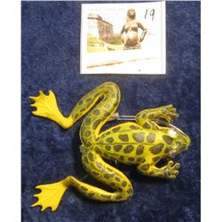 19. Leopard Frog Lure with moving eyes. No name. No box.