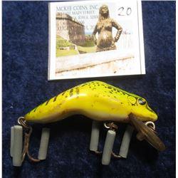"20. ""Rebel Shallow-Floater"" Leopard Frog. Dual treble hooks."