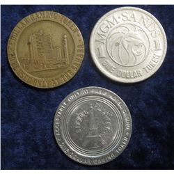 """101. """"MGM Sands/1/One Dollar Token"""", """"MGM Sands/Las Vegas, Nevada/1988 First Edition/Gaming Token"""";"""