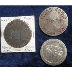 "102. ""Token/Vegas/World/Las Vegas N.V.""; ""One Dollar Gaming token Acceptable only at the Silver City"