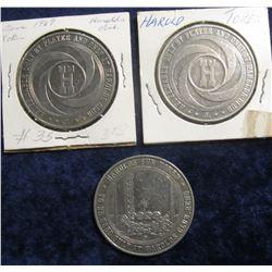 "107. (2) 1965 & (1) 1967 ""Harold's Club"" Reno, Nevada Gaming Tokens. The latter is Gem BU."