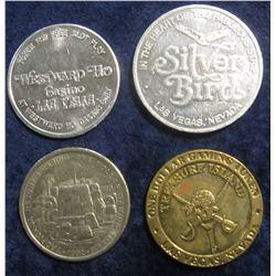 "108. ""Westward Ho Casino/Las Vegas"" Gaming Token; ""Treasure Island One Dollar Gaming Token""; ""Silver"