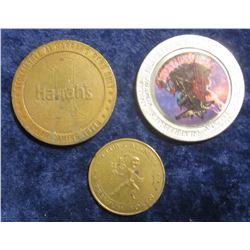 """109. """"Silver Legasy"""" $1 Reno, Nevada Gaming Token; Harrah's at Reno, Nevada Gaming Token; & Clu Cal"""
