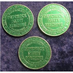 "111. (3) ""The Orleans"" Las Vegas, Nevada One Dollar Gambling Tokens. (3 pcs.)."
