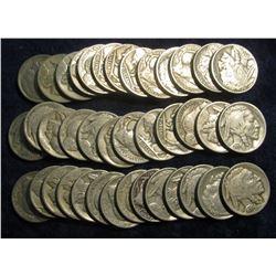 117. Roll of Circulated Mixed Date & Grade Buffalo Nickels. (40 pcs.)