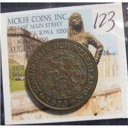 123. 1929 Netherlands 2 1/2 Cent. EF.