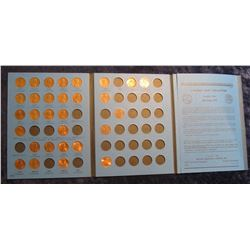 503. 1975-2011 Partial Set of Lincoln Cents in a blue Whitman folder. (30 pcs.).