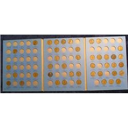 506. 1910-1940 Lincoln cent Set in a blue Whitman folder. (42 pcs.).