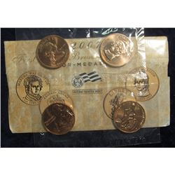 514. 2007 First Spouse Bronze Medal Series Four-Medal Set in original U.S. Mint issued holder.