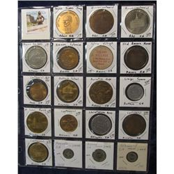 520. (19) Various carded Town Centennials, Medals, and Tokens in a Plastic Page. Most start with an