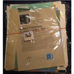 542. Huge hoard of Stamped Cancelled Commemorative Sheets. Includes: 1980 Olympics .31c Airmail; 197