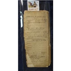 "546. 1869 Legal Papers ""Commission to Locate Road"" in Bloomfield Township, Polk County, Iowa."