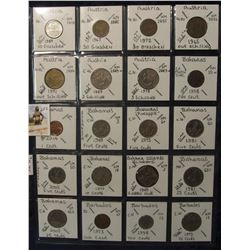 602. (20) World Coins in a Plastic Page, all identified with KM no. value, mintage, medal, & etc. In