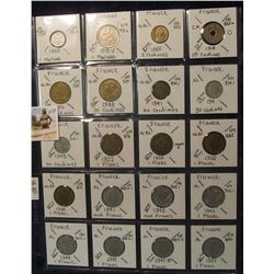 609. (20) World Coins in a Plastic Page, all identified with KM no. value, mintage, medal, & etc. In