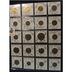 612. (20) World Coins in a Plastic Page, all identified with KM no. value, mintage, medal, & etc. In