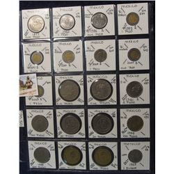 622. (20) World Coins in a Plastic Page, all identified with KM no. value, mintage, medal, & etc. In