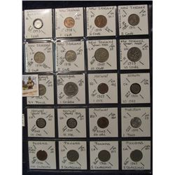 624. (20) World Coins in a Plastic Page, all identified with KM no. value, mintage, medal, & etc. In