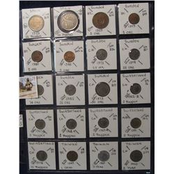 629. (20) World Coins in a Plastic Page, all identified with KM no. value, mintage, medal, & etc. In