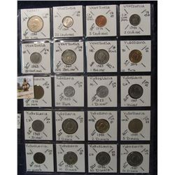 631. (20) World Coins in a Plastic Page, all identified with KM no. value, mintage, medal, & etc. In