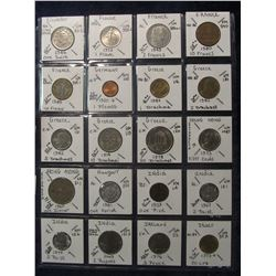 640. (20) World Coins in a Plastic Page, all identified with KM no. value, mintage, medal, & etc. In