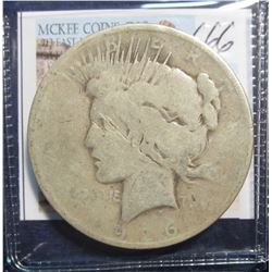 666. 1926 D U.S. Peace Silver Dollar. G-4.