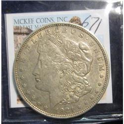 671. 1921 D U.S. Morgan Silver Dollar. VF 20.
