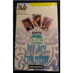 """716. Original Wrapped Wax Box of """"The Soaps of abc Featuring All My Children"""", Cardart from Star Pic"""